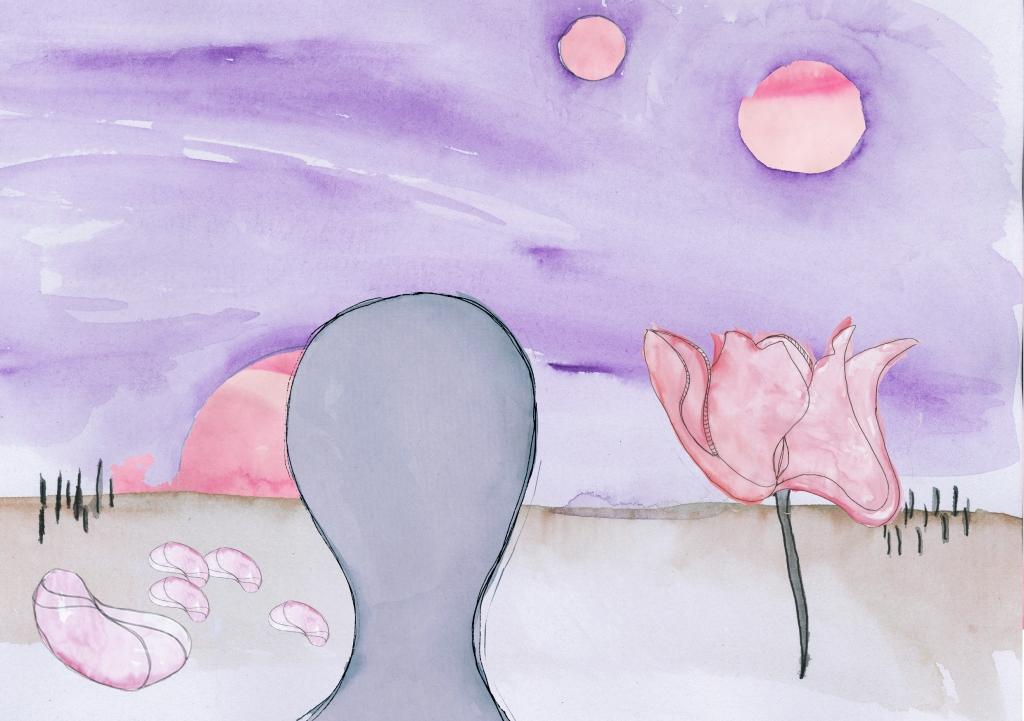 moon purple head